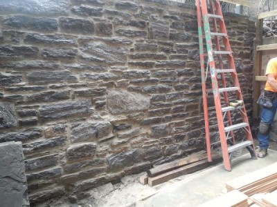 Westside wall repointed