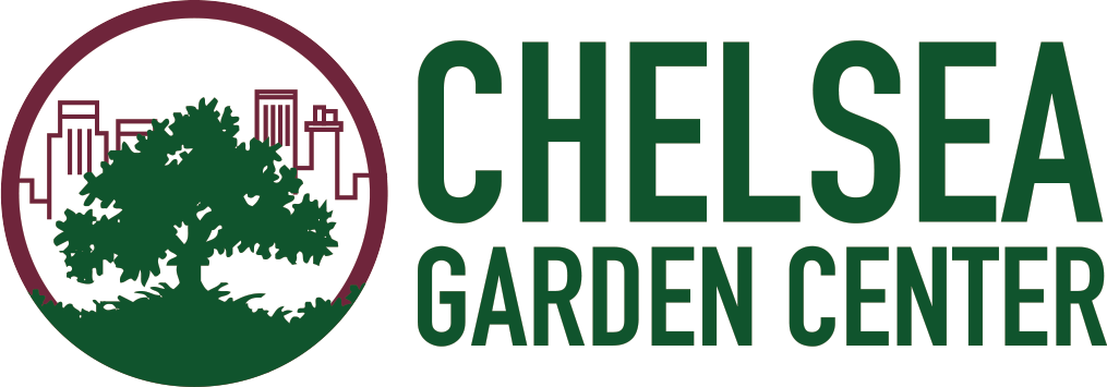 Chelsea garden center located in williamsburg redhook for Garden maintenance logo